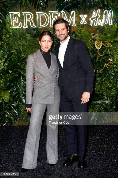 Tom Beck and his girlfriend Chryssanthi Kavazi wearing ERDEM X HM attend the ERDEM x HM PreShopping Event on November 1 2017 in Berlin Germany
