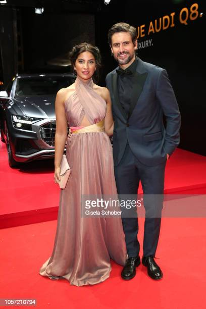 Tom Beck and his wife Chryssanthi Kavazi Beck during the 25th Opera Gala at Deutsche Oper Berlin on November 3 2018 in Berlin Germany