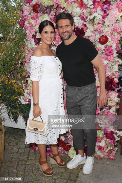 Tom Beck and his wife Chryssanthi Kavazi during the Ein Herz fuer Kinder summer party on June 24 2019 at Wannseeterrassen in Berlin Germany