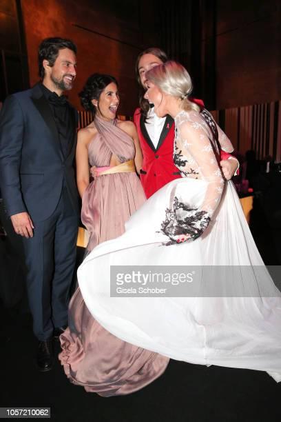 Tom Beck and his wife Chryssanthi Kavazi Riccardo Simonetti and Valentina Pahde attend the 25th Opera Gala aftershow party at Deutsche Oper Berlin on...