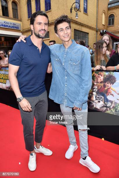 Tom Beck and Lukas Rieger attend the 'Bigfoot Junior' premiere at Kino in der Kulturbrauerei on August 6 2017 in Berlin Germany