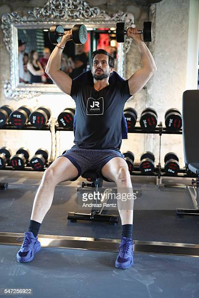 Tom Beck completes a workout at John Reed Fitness on July 14 2016 in Bonn Germany John Reed Fitness launches today their first studio in Germany