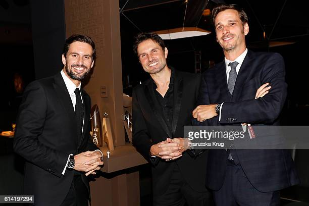 Tom Beck Simon Verhoeven and Max von Thun attend a poetry slam to celebrate WempeCut diamonds at Hearthouse on October 12 2016 in Munich Germany
