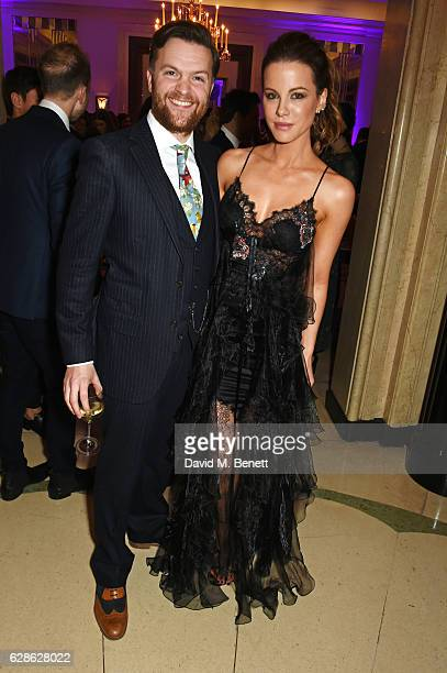 Tom Bennett and Kate Beckinsale attend The London Evening Standard British Film Awards at Claridge's Hotel on December 8 2016 in London England