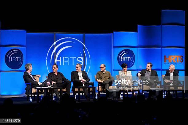 Tom Bergeron Mike Fleiss Conrad Green Eli Holzman Kris Jenner Brent Montgomery and Bertram van Munster attend The Hollywood Radio Television Society...