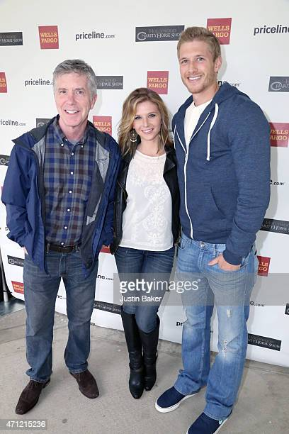 Tom Bergeron Piper Dean and Michael John attend the 25th Anniversary Pricelinecom Hollywood Charity Horse Show at the Los Angeles Equestrian Center...