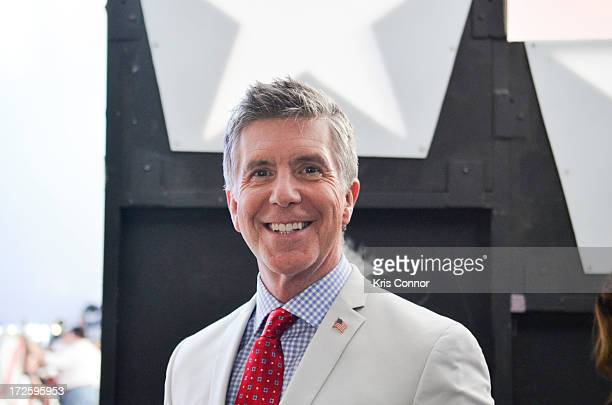 Tom Bergeron poses for a photo backstage during a rehearsal for the 'A Capitol Fourth 2013 Independence Day Concert' on the West Lawn of the US...