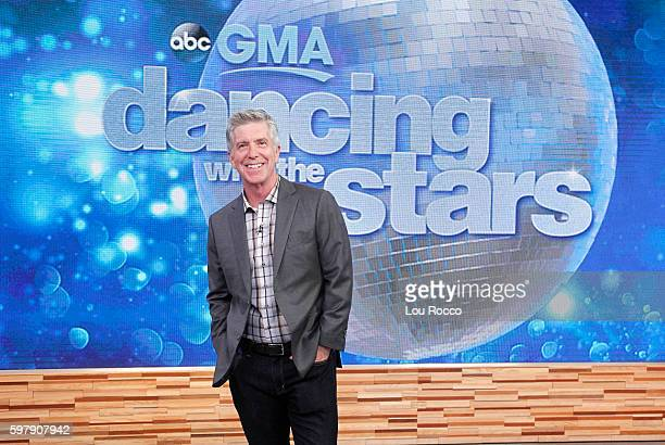 AMERICA Tom Bergeron presents the new Dancing With the Stars contestants on Good Morning America 8/30/16 airing on the Walt Disney Television via...