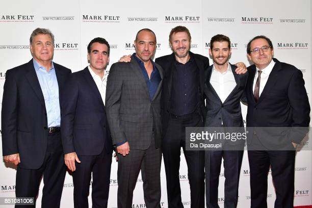 Tom Bernard Brian d'Arcy James Peter Landesman Liam Neeson Julian Morris and Michael Barker attend the 'Mark Felt The Man Who Brought Down the White...