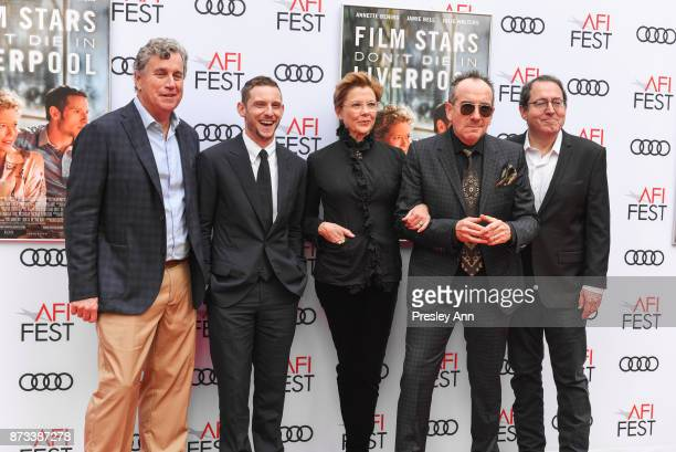 "Tom Bernard, Jamie Bell, Annette Bening, Elvis Costello and Michael Barker attend AFI FEST 2017 Presented By Audi - Screening Of ""Film Stars Don't..."
