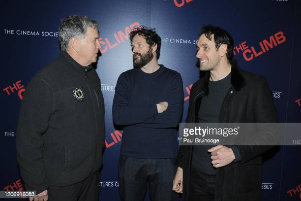 Tom Bernard Kyle Marvin and Michael Angelo Covino attend Sony Pictures Classics And The Cinema Society Host A Special Screening Of The Climb at iPic...