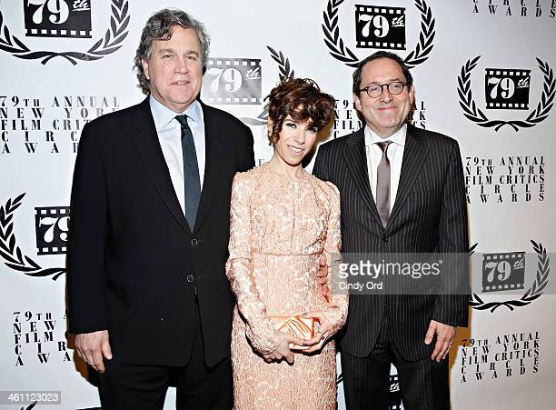 Tom Bernard Sally Hawkins and Michael Barker attend the 2013 New York Film Critics Circle Awards Ceremony at The Edison Ballroom on January 6 2014 in...