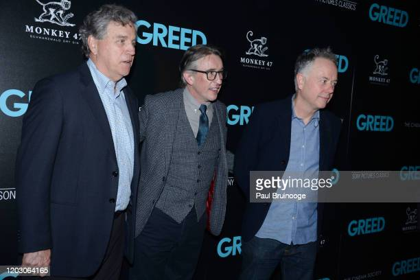 "Tom Bernard, Steve Coogan and Michael Winterbottom attend The Cinema Society & Monkey 47 Host A Special Screening Of Sony Pictures Classics' ""Greed""..."