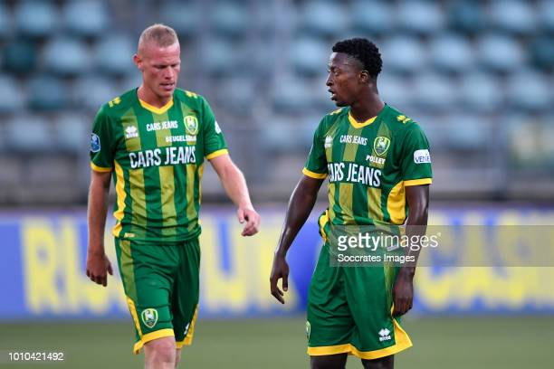 Tom Beugelsdijk of ADO Den Haag Robin Polley of ADO Den Haag during the Club Friendly match between ADO Den Haag v Aris Saloniki at the Cars Jeans...