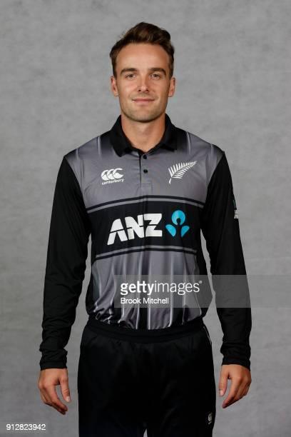 Tom Blundell poses during the New Zealand International Twenty20 headshots session at Sydney Cricket Ground on February 1 2018 in Sydney Australia