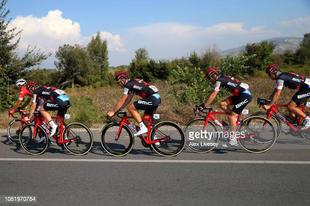 Tom Bohli of Switzerland and BMC Racing Team / Jean Pierre Drucker of Luxembourg and BMC Racing Team / Danilo Wyss of Switzerland and BMC Racing Team...