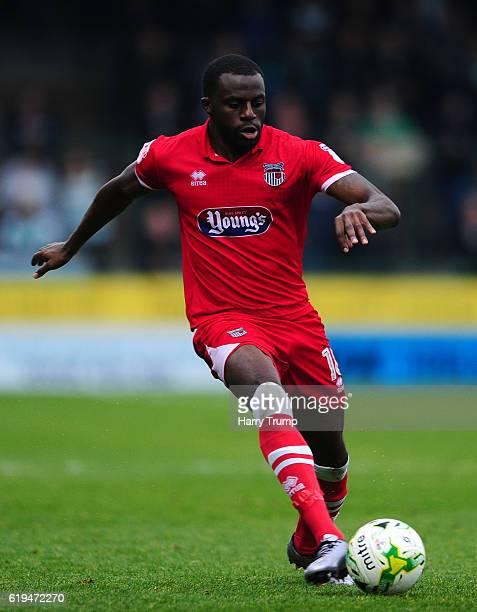 Tom Bolarinwa of Grimsby Town during the Sky Bet League Two match between Yeovil Town and Grimsby Town at Huish Park on October 29 2016 in Yeovil...