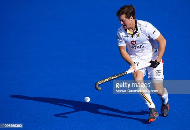Tom Boom of Belgium in action during the Men's FIH Field Hockey Pro League match between Spain and Belgium at Polideportivo Virgel del CarmenBetero...