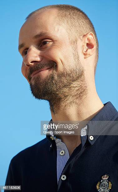 Tom Boonen of Belgium and EtixxQuick Step Pro Cycling Team looks on during the EtixxQuick Step Pro Cycling Team presentation on January 8 2015 in...