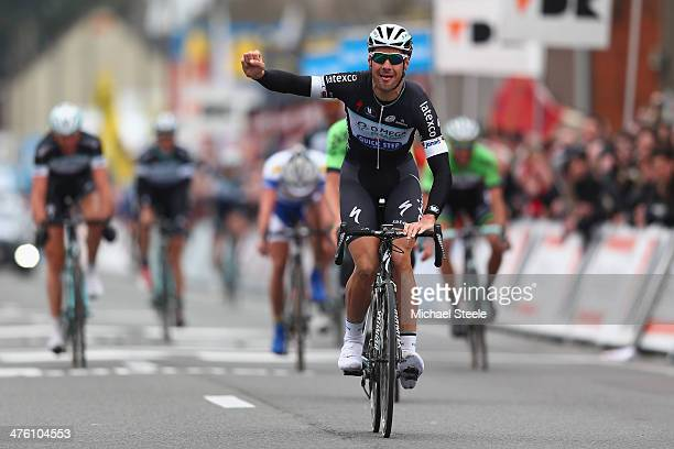 Tom Boonen of Belgium and Omega PharmaQuickStep Cycling Team celebrates winning during the KuurneBrusselsKuurne on March 2 2014 in Kuurne Belgium