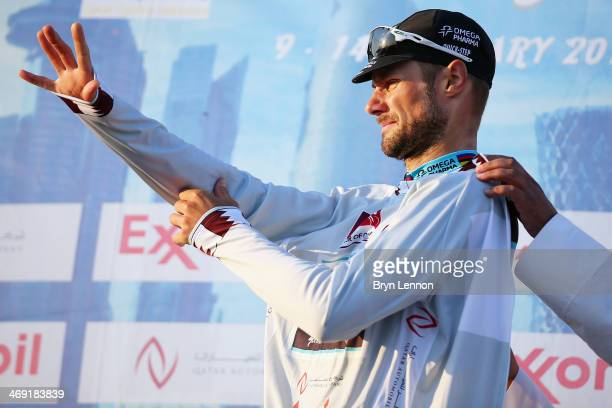 Tom Boonen of Belgium and Omega PharmaQuickStep retained the points jersey on stage five of the 2014 Tour of Qatar from Al Zubara Fort to Madinat Al...
