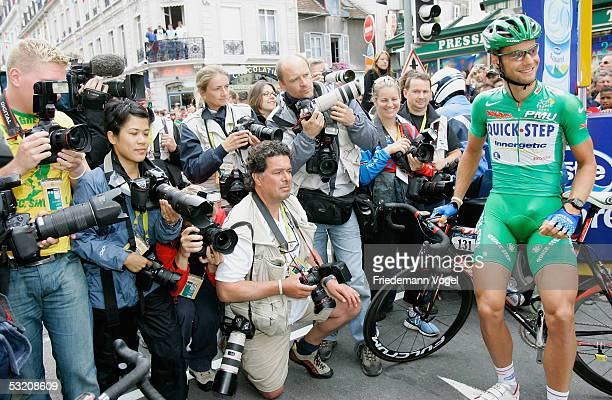 Tom Boonen of Belgium and the Quick Step team poses before the stage 6 of the 92nd Tour de France between Troyes and Nancy on July 7, 2005 in France.