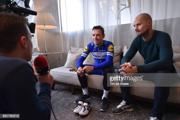 Tom Boonen of Belgium Philippe Gilbert of Belgium during training of Team QuickStep Floors for 109th MilanSan Remo 2018 on March 16 2018 in Milan...