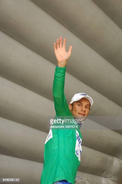 Tom Boonen recoit le maillot Vert
