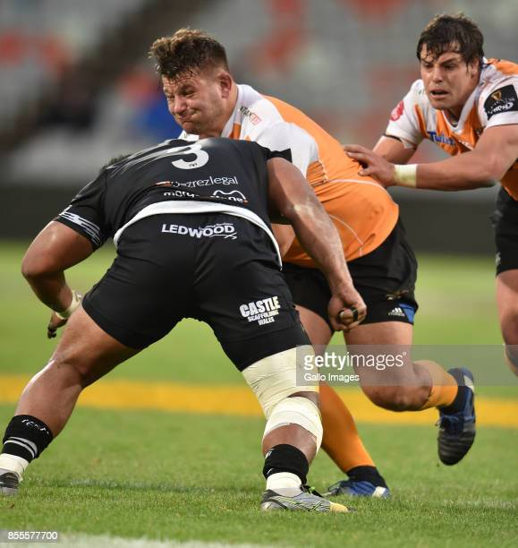 Tom Botha of the Toyota Cheetahs during the Guinness Pro14 match between Toyota Cheetahs and Ospreys at Toyota Stadium on September 29 2017 in...