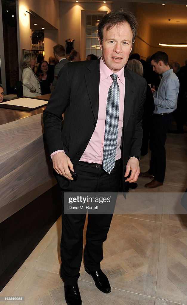 Tom Bradby attends the launch of Louise Fennell's new book 'Fame Game' at Grace Belgravia on March 12, 2013 in London, England.