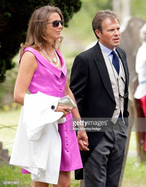 Tom Bradby attends the wedding of Mark Dyer and Amanda Kline at St Edmund's Church on July 3 2010 in Abergavenny Wales