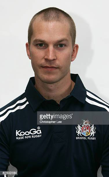Tom Bradley of Bristol poses for the camera during the Bristol Rugby Club Photocall at Clifton Rugby Club on August 19, 2008 in Bristol, England.