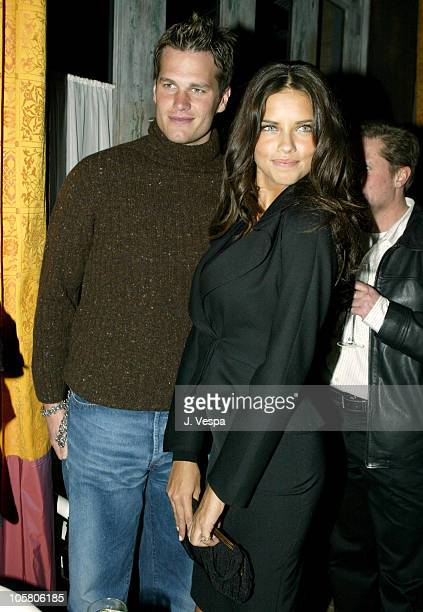 Tom Brady and Adriana Lima during Victoria's Secret Backstage Sexy Photo Book Preview AfterParty at Spice Market in New York City New York United...