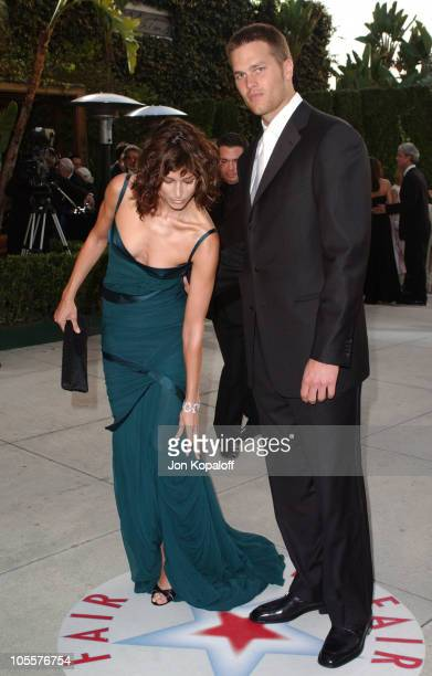 Tom Brady and Bridget Moynahan during 2005 Vanity Fair Oscar Party at Mortons in Los Angeles California United States