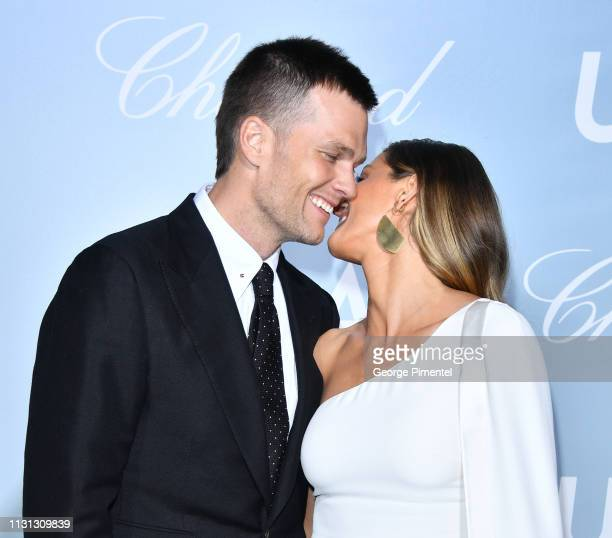 Tom Brady and Gisele Bündchen arrives at the 2019 Hollywood For Science Gala at Private Residence on February 21, 2019 in Los Angeles, California.