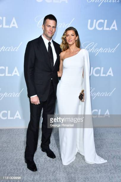 Tom Brady and Gisele Bündchen arrives at the 2019 Hollywood For Science Gala at Private Residence on February 21 2019 in Los Angeles California