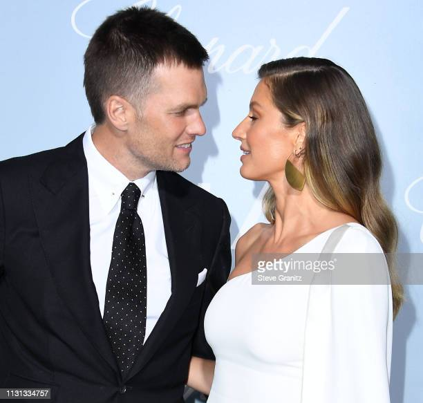 Tom Brady and Gisele Bündchen arrives at the Hollywood For Science Gala at Private Residence on February 21 2019 in Los Angeles California