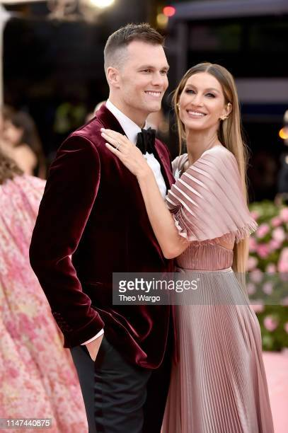 Tom Brady and Gisele Bündchen attend The 2019 Met Gala Celebrating Camp Notes on Fashion at Metropolitan Museum of Art on May 06 2019 in New York City