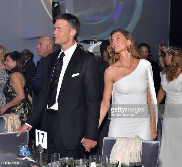 Tom Brady and Gisele Bündchen attend the UCLA IoES honors Barbra Streisand and Gisele Bundchen at the 2019 Hollywood for Science Gala on February 21...