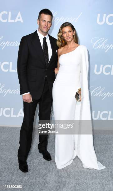 Tom Brady and Gisele Bündchen attends the 2019 Hollywood For Science Gala at Private Residence on February 21 2019 in Los Angeles California