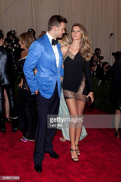 Tom Brady and Gisele Bundchen attend the Costume Institute Gala for the 'PUNK Chaos to Couture' exhibition at the Metropolitan Museum of Art in New...