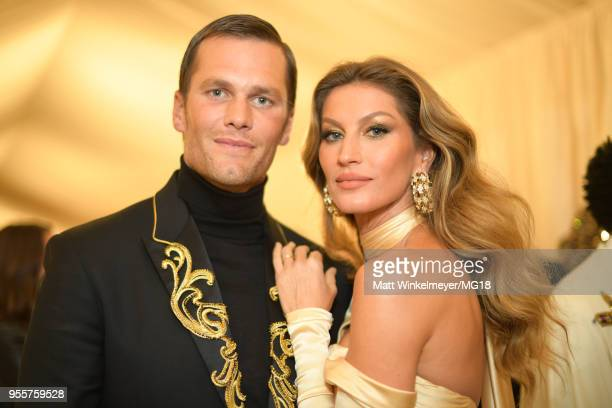 Tom Brady and Gisele Bundchen attend the Heavenly Bodies: Fashion & The Catholic Imagination Costume Institute Gala at The Metropolitan Museum of Art...