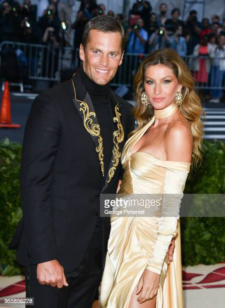 Tom Brady and Gisele Bundchen attend the Heavenly Bodies Fashion The Catholic Imagination Costume Institute Gala at the Metropolitan Museum of Art on...