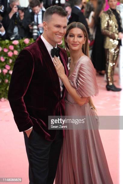 "Tom Brady and Gisele Bundchen attend The Metropolitan Museum Of Art's 2019 Costume Institute Benefit ""Camp: Notes On Fashion"" at Metropolitan Museum..."