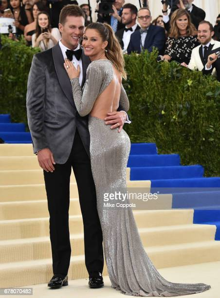 Tom Brady and Gisele Bundchen attend the 'Rei Kawakubo/Comme des Garcons Art Of The InBetween' Costume Institute Gala at Metropolitan Museum of Art...