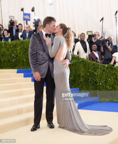 Tom Brady and Gisele Bundchen attend the Rei Kawakubo/Comme des Garcons Art Of The InBetween Costume Institute Gala at Metropolitan Museum of Art on...