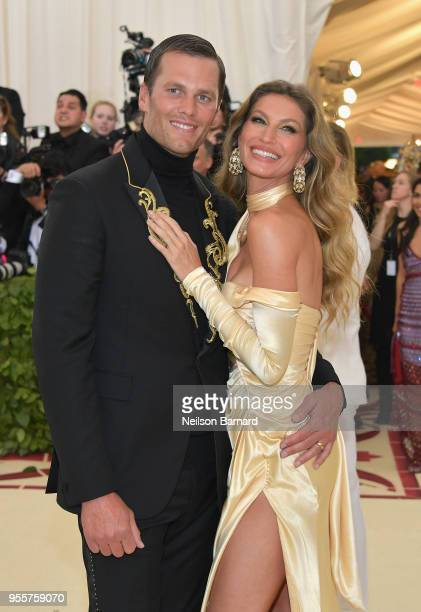 Tom Brady and Gisele Bundchen attends the Heavenly Bodies: Fashion & The Catholic Imagination Costume Institute Gala at The Metropolitan Museum of...