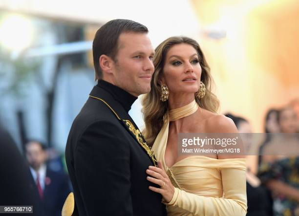 Tom Brady and Gisele Bundchen attends the Heavenly Bodies Fashion The Catholic Imagination Costume Institute Gala at The Metropolitan Museum of Art...