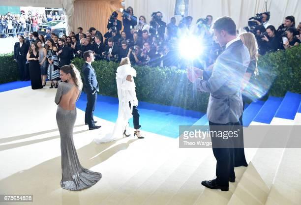 Tom Brady and Gisele Bundchen attends the 'Rei Kawakubo/Comme des Garcons Art Of The InBetween' Costume Institute Gala at Metropolitan Museum of Art...