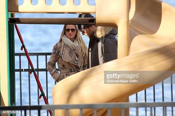 Tom Brady and Giselle Bundchen are seen on January 02 2012 in Boston Massachusetts